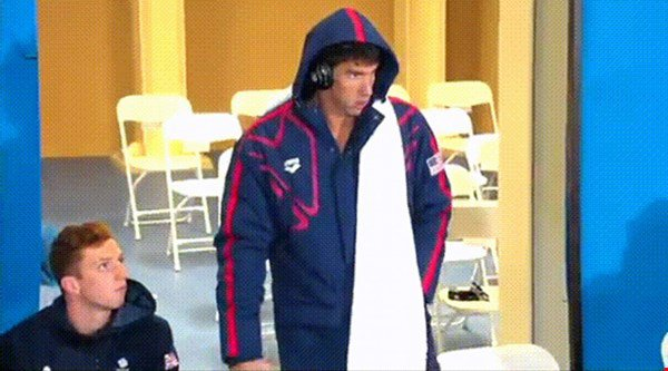 Watch moment fellow swimmer Dan Wallace bows in admiration to superstar Michael Phelps