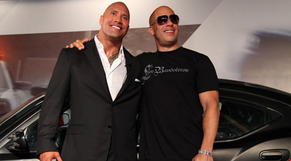 Awkward! Dwayne Johnson leaves out Vin Diesel as he thanks his Fast 8 co-stars
