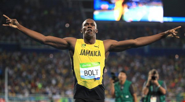 How quickly did Usain Bolt win his nine Olympic golds?