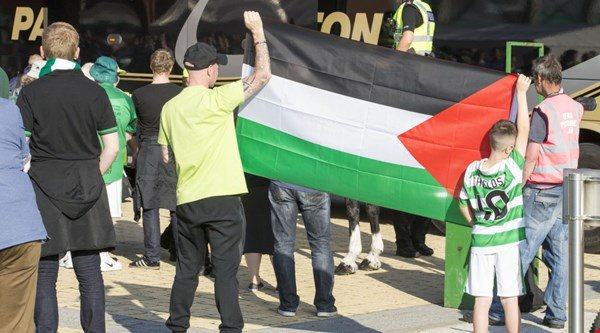 Celtic fans have raised more than €115,000 for Palestine