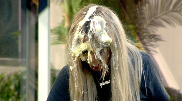 Aubrey O'Day and Bear in explosive showdown over custard pie fight in Celebrity Big Brother